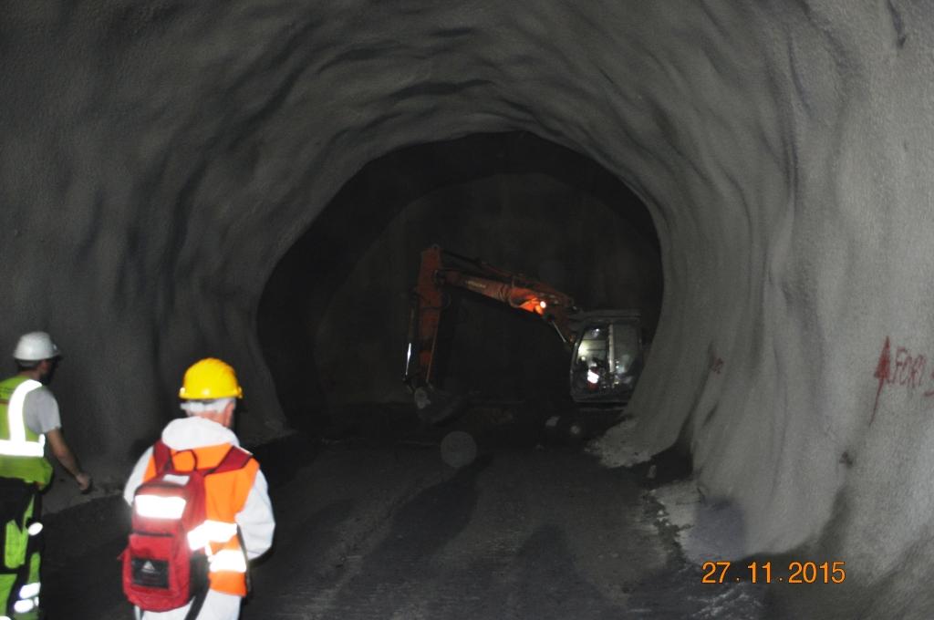 collegamento tra i due tunnel
