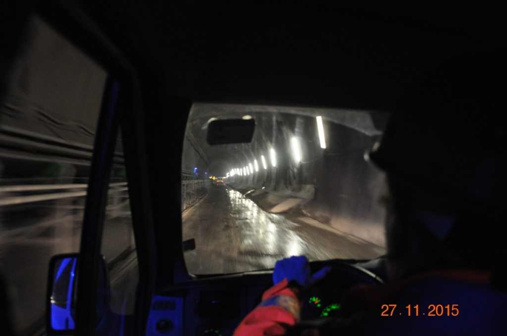 percorso verso il fronte di scavo 2